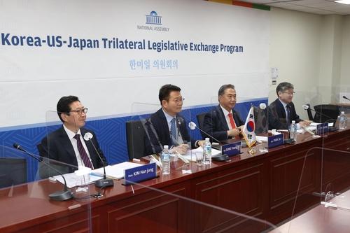 韩美日议员在线开会讨论美国大选影响