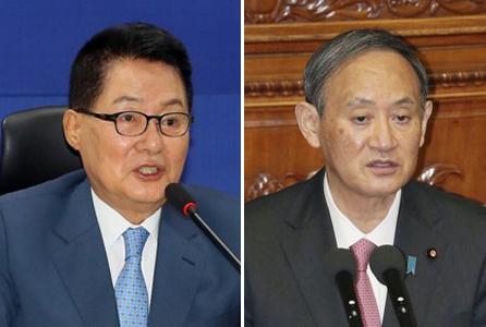韩情报首长拜会日本首相菅义伟