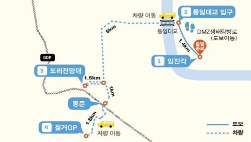 韩朝非军事区和平之路坡州段本月重新开放