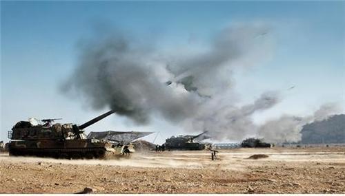 韩军主力武器K9自行火炮部署完毕