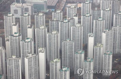 资料图片:公寓住宅区 韩联社