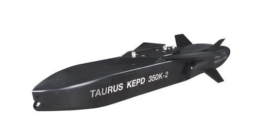 """新一代远程空地导弹""""金牛座350K-2""""模型 金牛座系统公司供图(图片严禁转载复制)"""