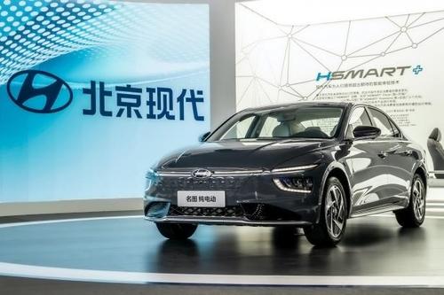 11月20日,电动版名图亮相第18届广州车展。 现代汽车供图(图片严禁转载复制)