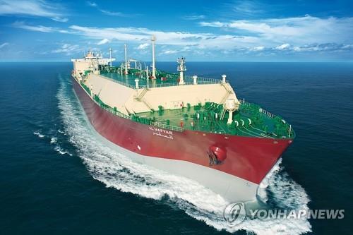 资料图片:三星重工业LNG船 三星重工业供图(图片严禁转载复制)