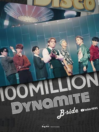 防弹《Dynamite》第二版MV播放量破亿