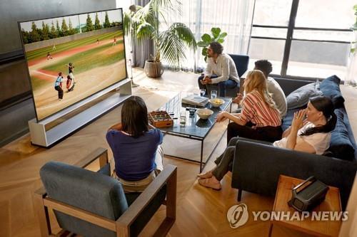资料图片:LG OLED电视 韩联社/LG电子供图(图片严禁转载复制)