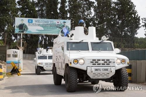 资料图片:韩国东明部队维和活动现场照 韩联社