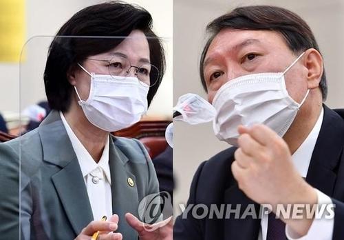 韩法院审理检察总长申请停止执行停职命令案