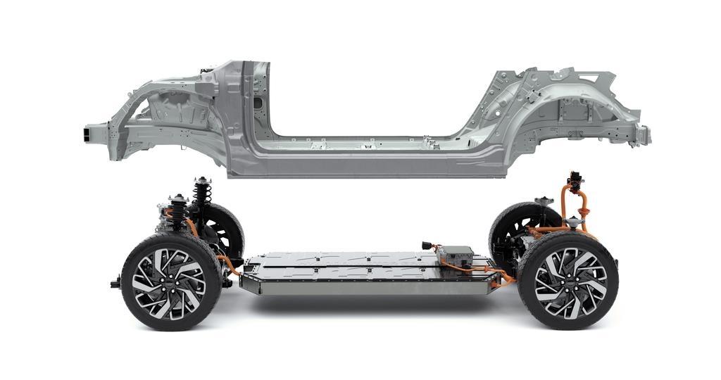 """现代汽车纯电动全球模块化平台""""E-GMP"""" 现代汽车供图(图片严禁转载复制)"""