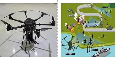 步枪射击型无人机 防卫事业厅资料截图(图片严禁转载复制)