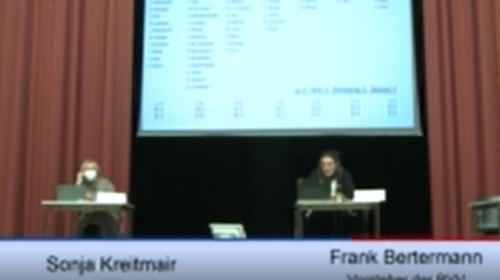 米特区议会全体会议直播画面截图 韩联社