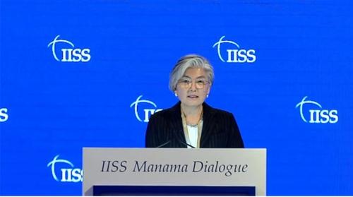 康京和麦纳麦对话会演讲强调国际社会携手共克疫情