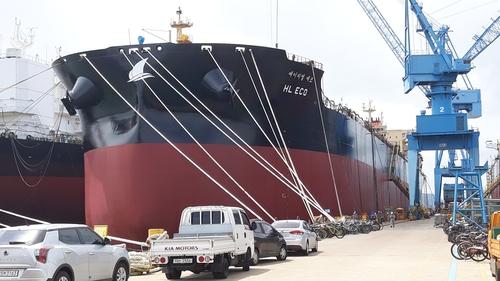韩国两艘LNG动力远洋船明命名下海