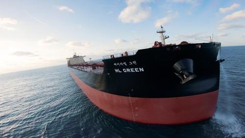 """资料图片:LNG动力远洋船""""HL GREEN""""号 海洋水产部供图(图片严禁转载复制)"""