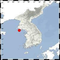 朝鲜瓮津郡西南海域发生2.3级地震