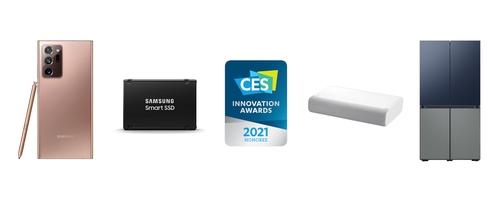 资料图片:三星电子获CES创新奖。 三星电子供图(图片严禁转载复制)