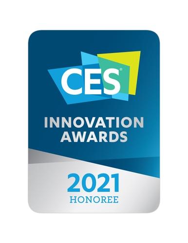 资料图片:2021年国际消费类电子产品展览会创新奖标志 三星电子供图(图片严禁转载复制)
