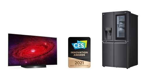 资料图片:LG电子获CES创新奖。 LG电子供图(图片严禁转载复制)