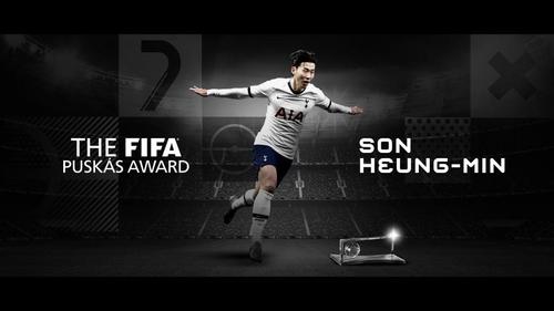 韩国名将孙兴慜获颁国际足联年度最佳进球奖