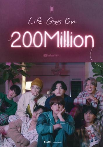 防弹少年团《Life Goes On》MV播放量破2亿