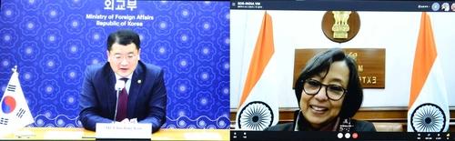 韩印副外长举行视频会谈