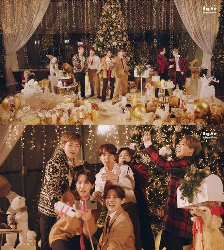 防弹V和智旻圣诞发歌送出惊喜音乐礼