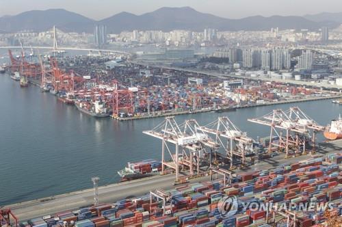 详讯:韩国12月出口同比增长12.6%