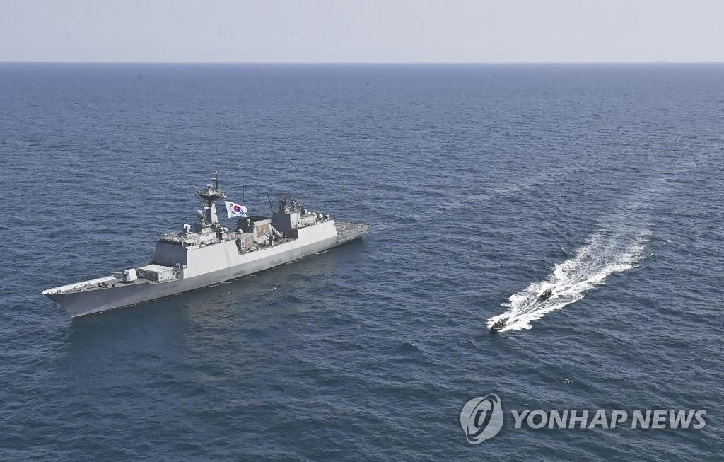 韩军抵达霍尔木兹海峡附近应对韩船被扣事件