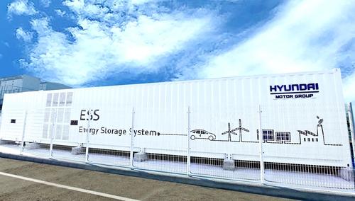 现代汽车推进利用废动力电池的储能系统项目验证