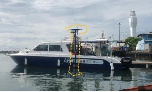 韩国海洋探测船参与印尼失事客机搜救工作