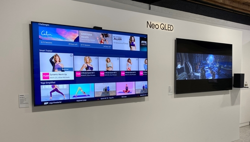 三星QLED电视提供的智能健身服务 韩联社
