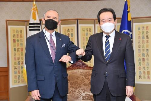 韩总理接见即将离任的美国驻韩大使