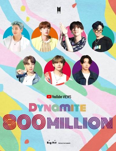 防弹少年团《Dynamite》MV播放量破8亿。 Big Hit娱乐供图