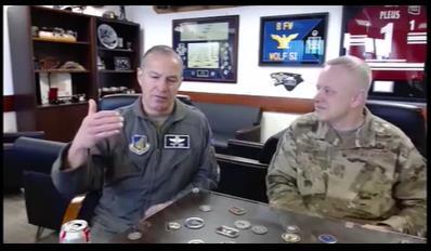 2月3日,驻韩美军副司令斯科特·普勒斯出席美国空军协会主办的视频访谈。 韩联社/美国空军协会优兔画面截图(图片严禁转载复制)