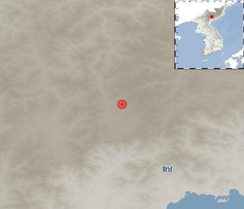 朝鲜咸镜南道长津郡发生两次天然地震