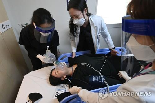 韩国模拟演练新冠疫苗接种