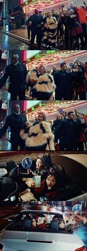 CL参与拍摄的塔可贝尔广告画面 Team Berry Cherry供图(图片严禁转载复制)
