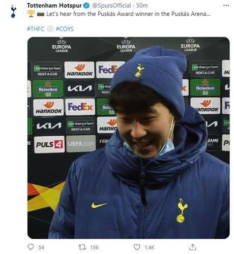 孙兴慜打入赛季第18球刷新得分纪录