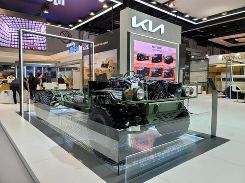 起亚新一代轻型战术车概念车KLTV裸底盘 起亚供图(图片严禁转载复制)