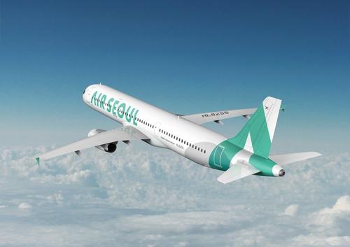 资料图片:首尔航空客机 首尔航空供图(图片严禁转载复制)