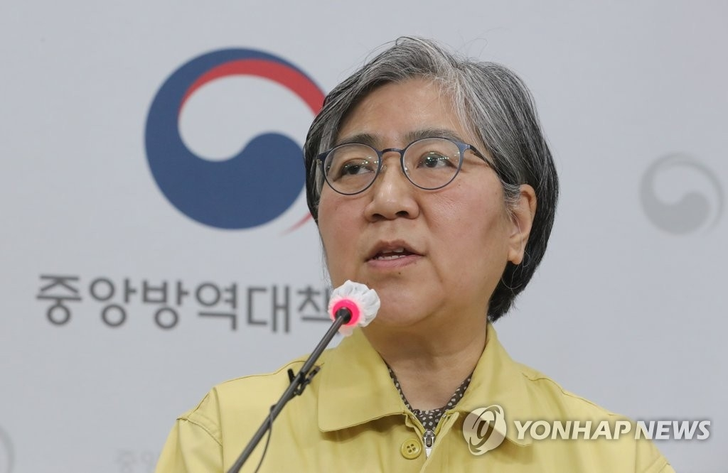 3月3日下午,在忠清北道清州市的疾病管理厅,郑银敬答记者问。 韩联社