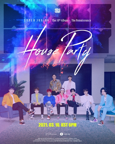 Super Junior第十张正规专辑《The Renaissance》海报 韩联社/Label SJ供图(图片严禁转载复制)
