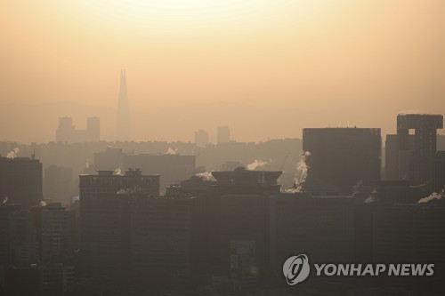 源自中国沙尘暴或明早侵袭韩国