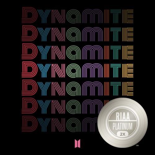 《Dynamite》获得双白金认证 美国唱片业协会供图(图片严禁转载复制)