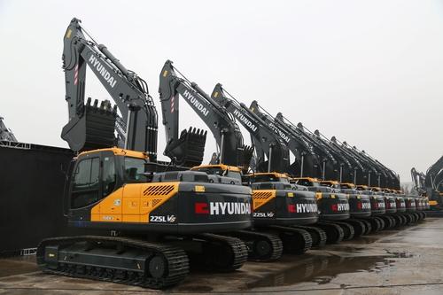 现代建设机械承揽公司史上在华最大订单