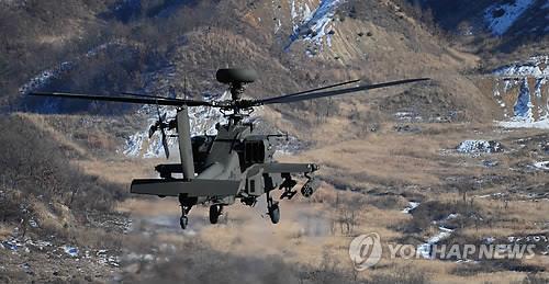 韩军将再买36架阿帕奇级攻击直升机