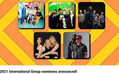 资料图片:2021年全英音乐奖提名名单 全英音乐奖官网截图(图片严禁转载复制)
