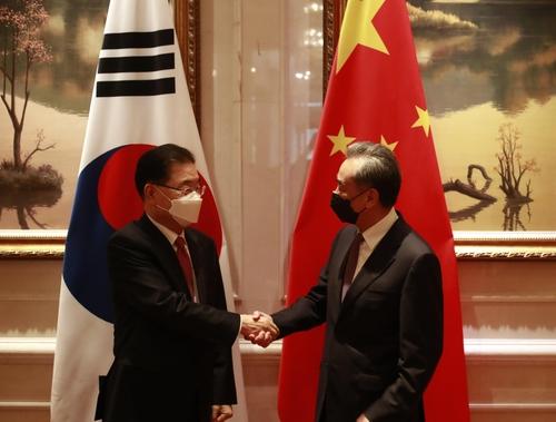 韩中外长在厦门举行会谈