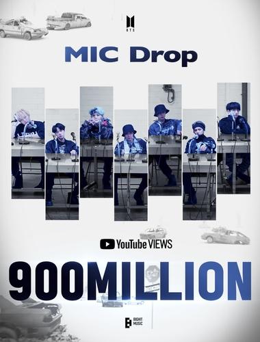 防弹《MIC Drop》混音版MV优兔播放量破9亿