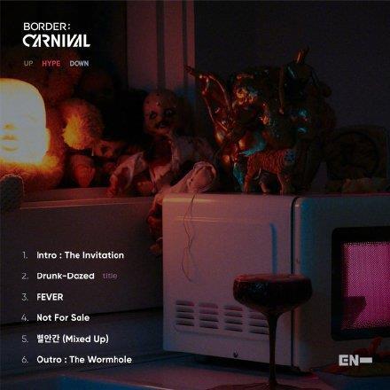 《BORDER : CARNIVAL》歌单 经纪公司BELIFT LAB供图(图片严禁转载复制)